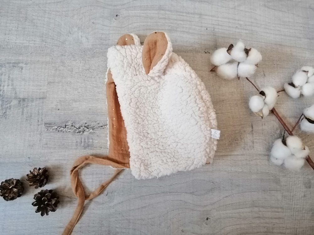 Beguin ourson shabby chic Sherpa par Vanora Creation-2