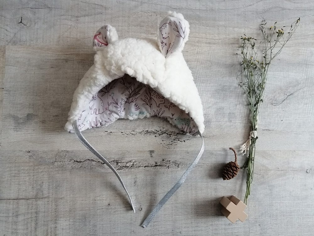 Beguin ourson shabby chic Sherpa par Vanora Creation-4
