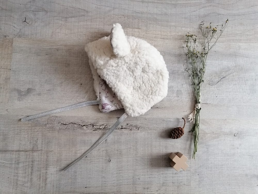 Beguin ourson shabby chic Sherpa par Vanora Creation-5