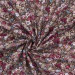 coton fleuris vintage prune et rose